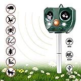 Vannico Fox Cat Repellent, Solar Battery Power Ultrasonic Animal Repeller, Outdoor Waterproof Cat Fox Dog Scarer Deterrent with 2 Speakers for Garden Yard Field Farm (AR 1)
