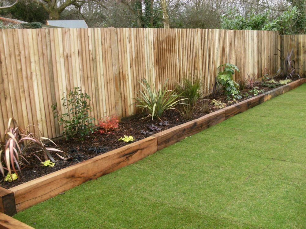 timber garden bed edging