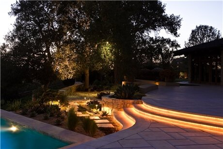 outdoor rope lighting ideas